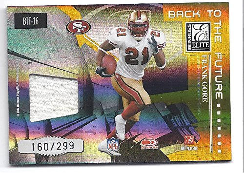 FRANK GORE ROGER CRAIG 2007 Donruss Elite Back To The Future DUAL GAME WORN JERSEY Card #160 of only 299 Made! San...