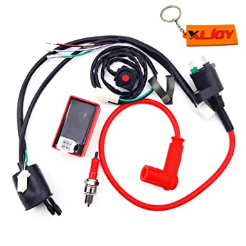 XLJOY Wiring Loom Harness Kill Switch Racing Ignition Coil 5 ... on