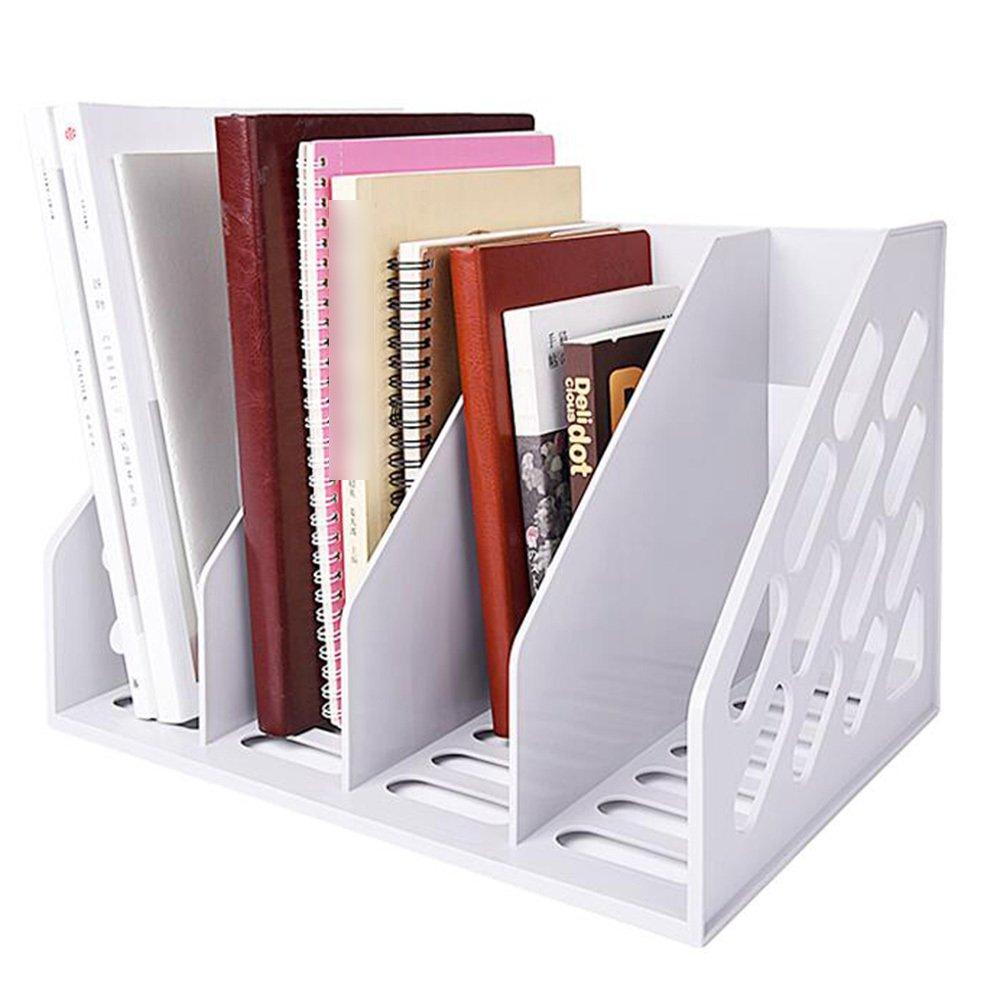 Librería Todo De Soporte De Documentos Todo Librería En Uno Caja De Documentos De Suministros De Oficina Organizador De Almacenamiento De Escritorio Barra De Documentos Espesamiento De Múltiples Capas,Blanco 95c29d