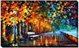 Picture Perfect International Way To Home 2'' by Leonid Afremov Giclee Stretched Canvas Wall Art, 28'' x 48'' x 1.5''
