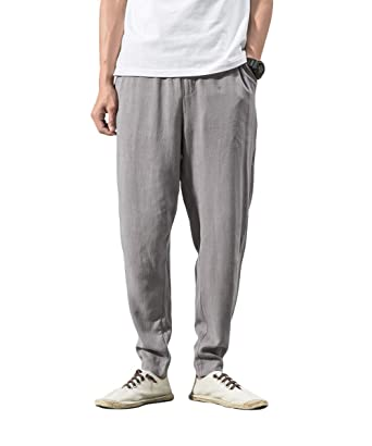 YOUTHUP Pantaloni da Uomo Casual Vita Elastica Pantaloni di