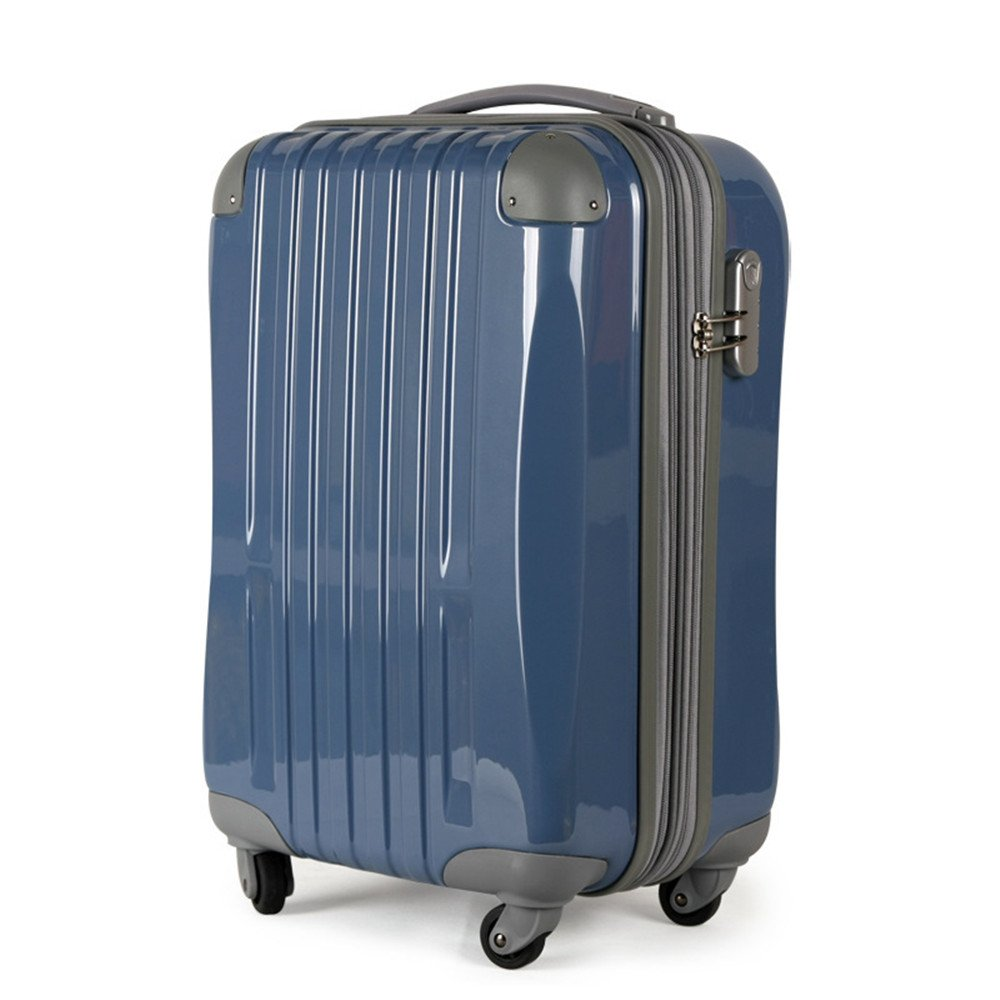 Sviper-bag Lightweight Suitcase ABS+PC Material Travel Rod Box Chassis 20 24 Inch Pull Rod Box. Travel Suitcase (Color : Blue)