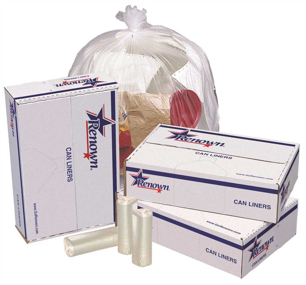 RENOWN GIDDS-2478852 Renown Trash Can Liners, Natural, 24 x 24, 6 Mic, 50 Liners Per Roll, 20 Rolls Per Case