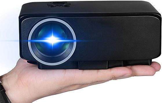 HongLianRiven Pequeños proyectores - Negro - Soporte HD: Amazon.es ...