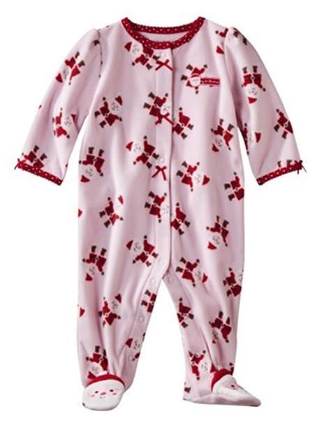 de000d47e Amazon.com  Carter s Infant Girls Plush Pink Santa Claus Sleeper ...