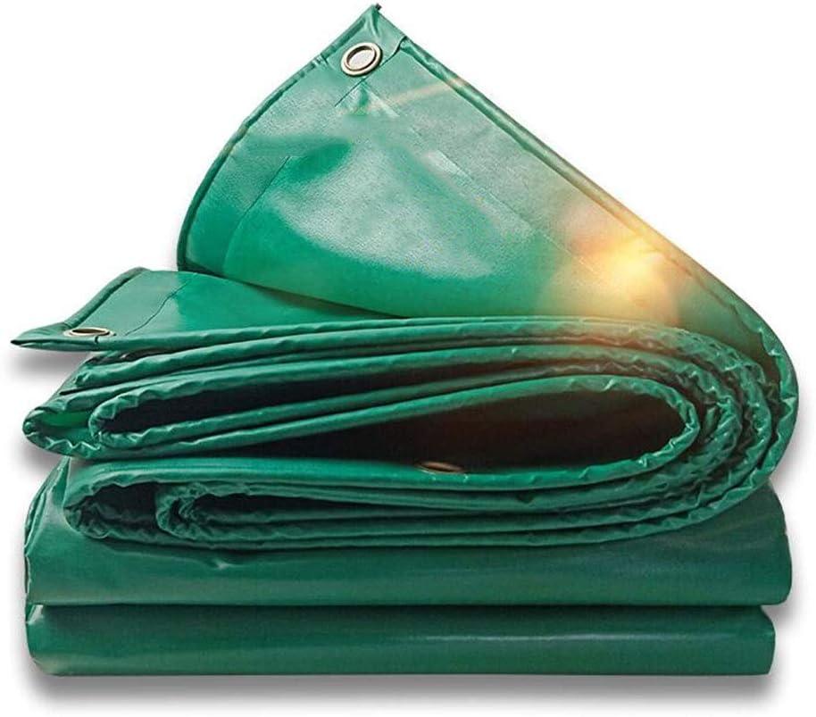 XUERUI シェルター ターポリン 防水カバー レインプルーフ 日焼け止め トラック 防水シート 重量:450g /㎡ 厚さ:0.4ミリメートル スポーツ アウトドア (Color : 緑, Size : 5x7m) 緑 5x7m