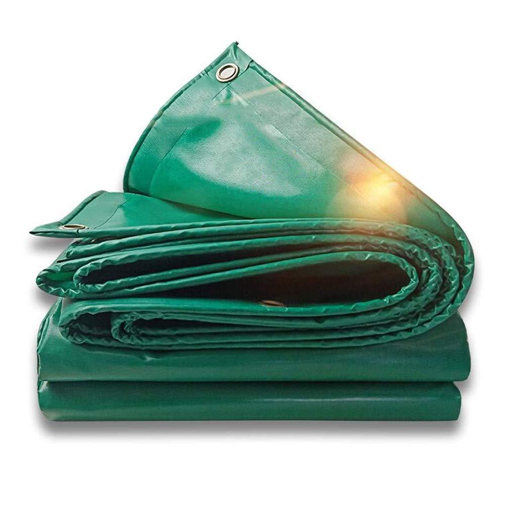 XUERUI シェルター ターポリン 防水カバー レインプルーフ 日焼け止め トラック 防水シート 重量:450g /㎡ 厚さ:0.4ミリメートル スポーツ アウトドア (Color : 緑, Size : 6x10m) 緑 6x10m