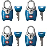 Master Lock 4689Q TSA Approved Luggage Lock, 4 Pack, Assorted Colors