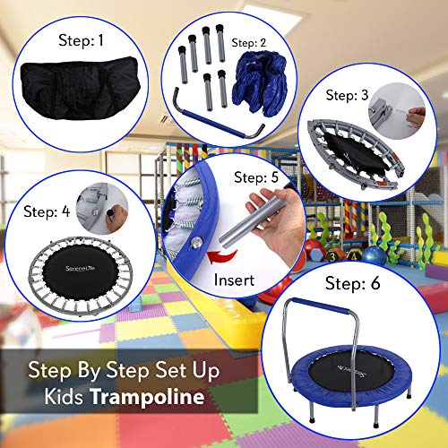 SereneLife Trampoline In-Home Mini Rebounder, Exercise - -