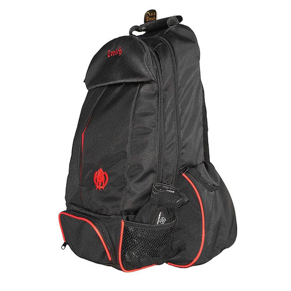 UNISTRENGH Professional Equestrian Bag Nylon Horse Riding Boots and Helmet Bag Waterproof Backpack Shoulder Pack (Black)
