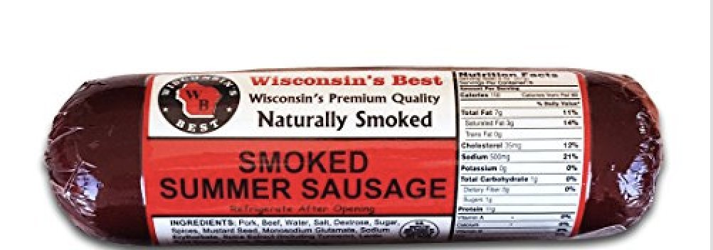 WISCONSIN'S BEST, Original Summer Sausage, Holiday CASE of 12-12oz by Wisconsin's Best