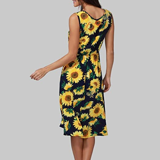 Misaky Women/Girls/Ladies Summer Sexy Fruit Partterened Sleeveless Dress Summer Casual Tank Dress at Amazon Womens Clothing store: