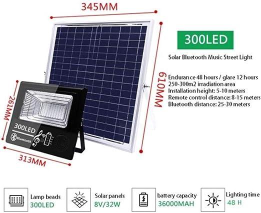 Foco Proyector Solar Exterior,Luz De Inundación Altavoz Bluetooth ...