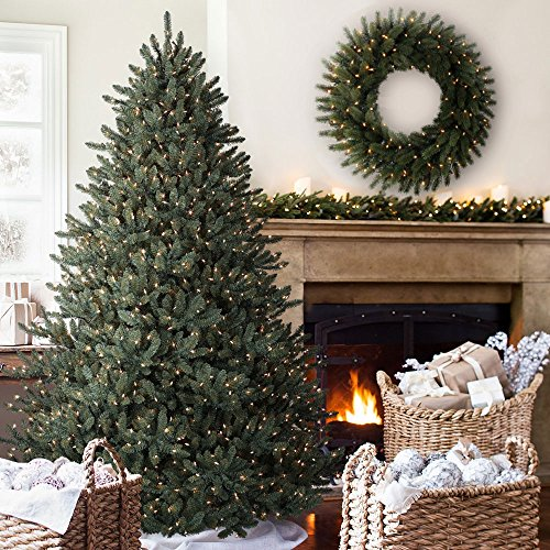 balsam hill classic blue spruce artificial christmas tree 75 feet clear lights - Artificial Christmas Trees With Lights