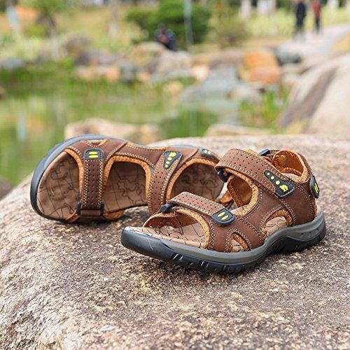 Pantofole e Marrone Pelle in Uomo YTTY da da Comode Sandali Esterni Comodi Spiaggia Comode Sandali 6SYIq