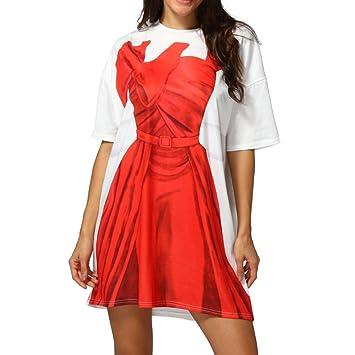 Vestido para Mujer, Diseño de Brazo Suelto, Color Liso, Vestido Delgado Delgado de