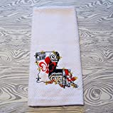 Louisiana appliqued Embroidered Kitchen Towel
