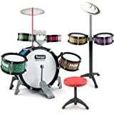 BEAURE 13 Pieces Toddlers Jazz Drum Set for Kids Educational Musical Playset Toy Percussion Instrument Kit Gifts for Boys and