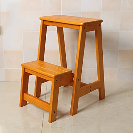 Brilliant Iaizi High Wooden Bench Kitchen Step Stool Seat Foldable Onthecornerstone Fun Painted Chair Ideas Images Onthecornerstoneorg
