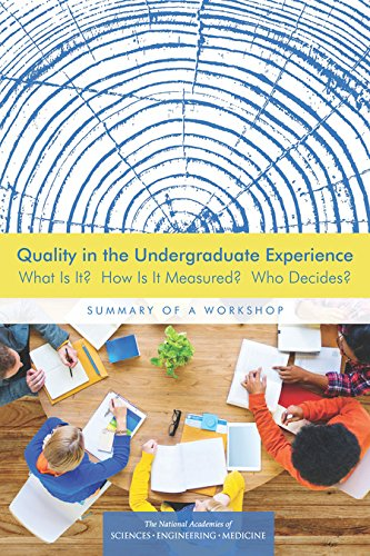Quality in the Undergraduate Experience: What Is It? How Is It Measured? Who Decides? Summary of a Workshop