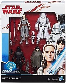 Star Wars Force Link Battle on Crait Figura de 3.75 Pulgadas, Paquete de 4: Amazon.es: Juguetes y juegos