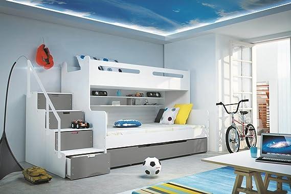 Interbeds Etagenbett : Interbeds etagenbett max weiß graphit cm und