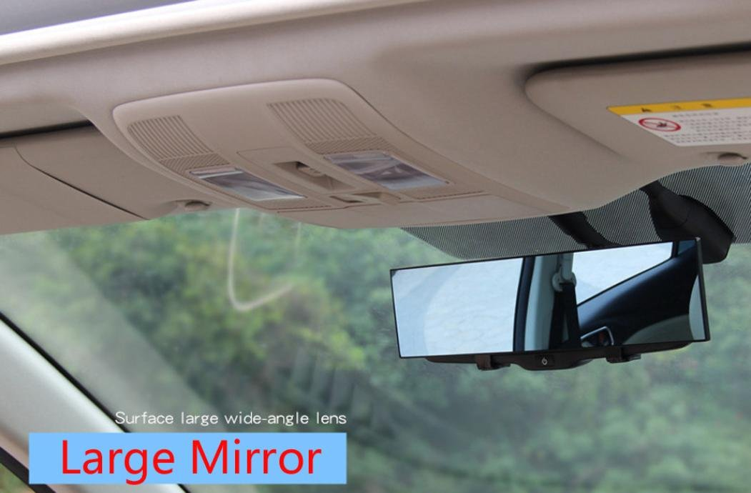 Gaddrt Car Rear View Wide Angle Mirror Clip On Interior 300mm