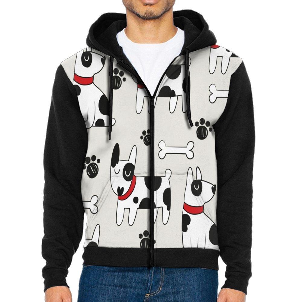 Shenghong Lin Dalmatians Dog Design Mens Black Hoodie Sweatshirt Sportswear Jackets With Hoodies