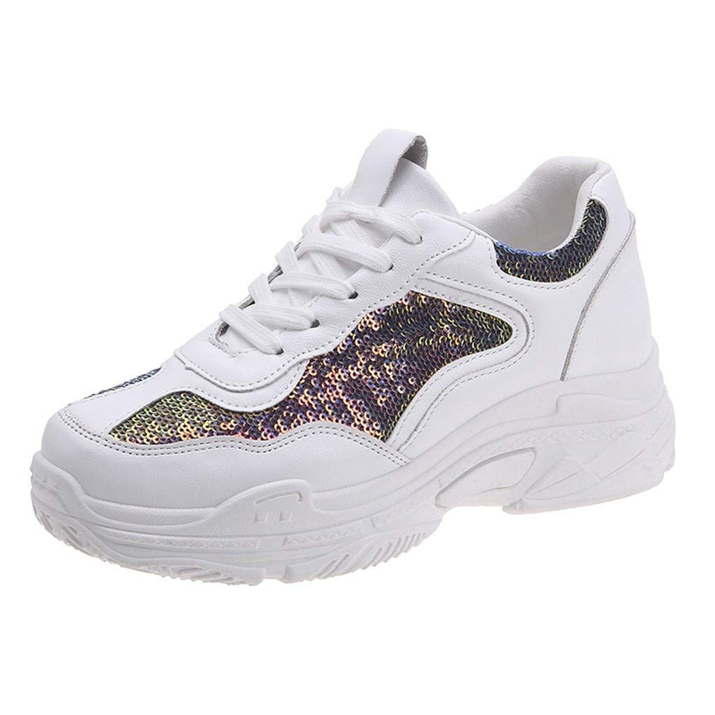 Henwerd running-shoes for Women Tennis Athletic Sport Walking Casual Student Sneakers (Multicolor,7.5 US)