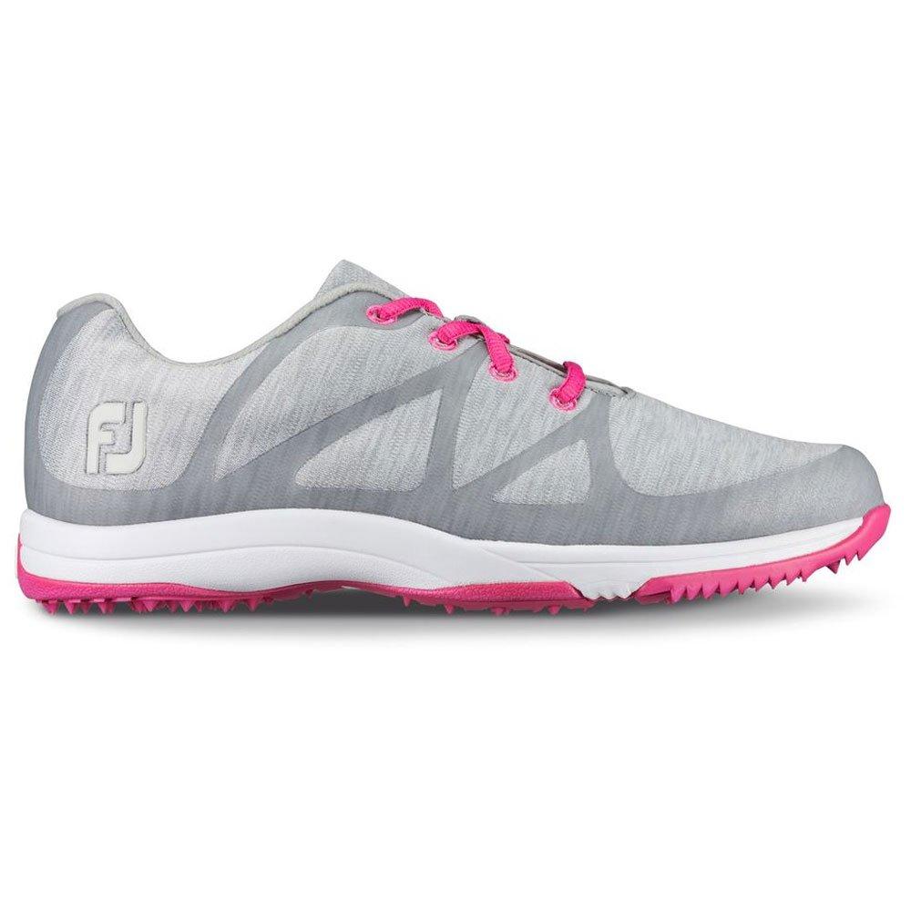 FootJoy Leisure Spikeless Golf Shoes 2017 Women Light Space Gray Dye/Pink Medium 12