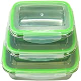 CE Stainless Steel Food Containers With Airtight Lids - Bento Box Set - Leakproof Food Preservation Lunch Box - Food Prep eBook Included! Lightweight Eco-Friendly Storage Containers - BPA FREE