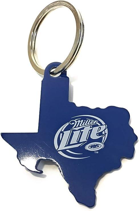 New Miller Lite Beer Bottle Opener Blue Aluminum Keychain