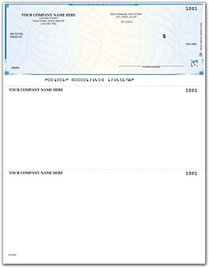 5000 Qty Top Format Lined Compatible with QuickBooks//Quicken - Custom CheckSimple Laser Business Checks