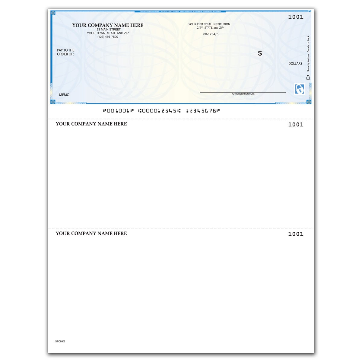 CheckSimple High Security Laser Business Checks - Compatible with QuickBooks & Quicken (500 Qty) - Custom by CheckSimple