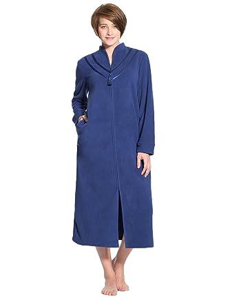 Balsamik Robe De Chambre Zippée En Maille Polaire Femme
