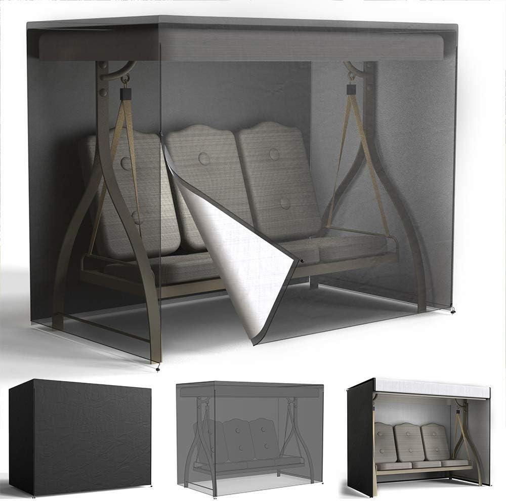 Woodside 3 Seater Garden Swing Cover Patio Furniture Set Waterproof Shelters