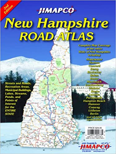 New Hampshire Road Atlas JIMAPCO Inc 9781569145920 Amazoncom