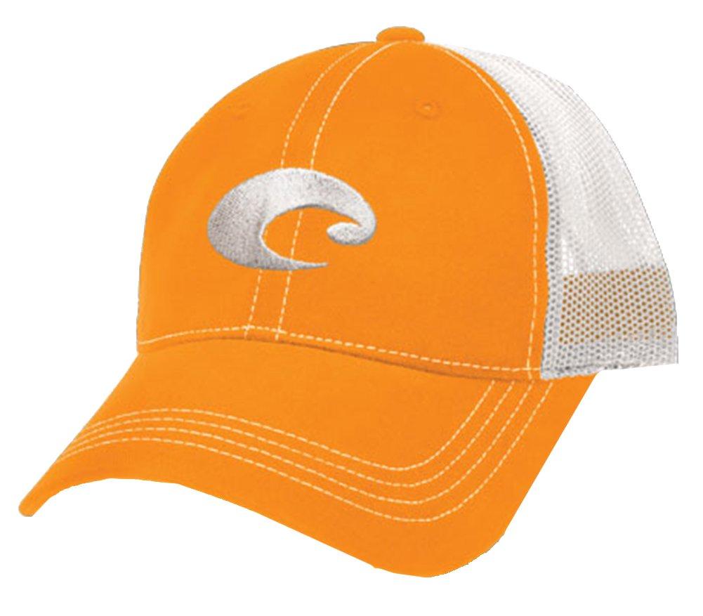 Costa Del Mar Mesh Hat, Orange/White