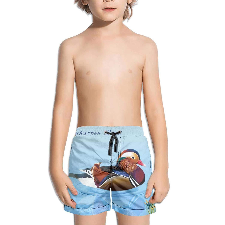 Etstk Mandarin Duck Kids Quick Dry Swim Trunks for Men