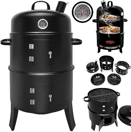 Hot Barbecue BBQ Smoker Grill Edelstahl Thermometer Temperaturanzeige Fleisch DE