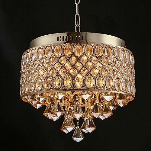 - Indoor Lighting Candle K9 Crystal Chandelier, Round Creative Simple Deluxe Living Room Bedroom Restaurant LED Ceiling Light