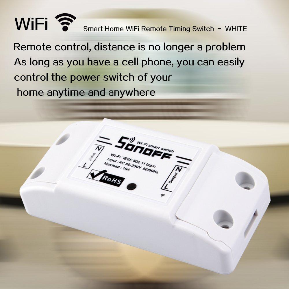 4pcs Docooler Sonoff 10 A DIY Smart WiFi Remote Control General Modification Remote Control with Smart App