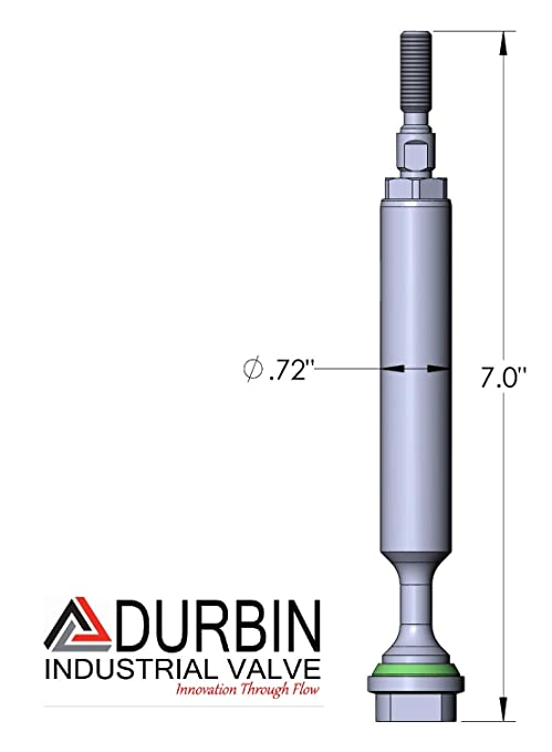 Durbin Industrial Valve .5 SC 500 2W N//C Soft Seated Replacement stem Assembly C332-080D