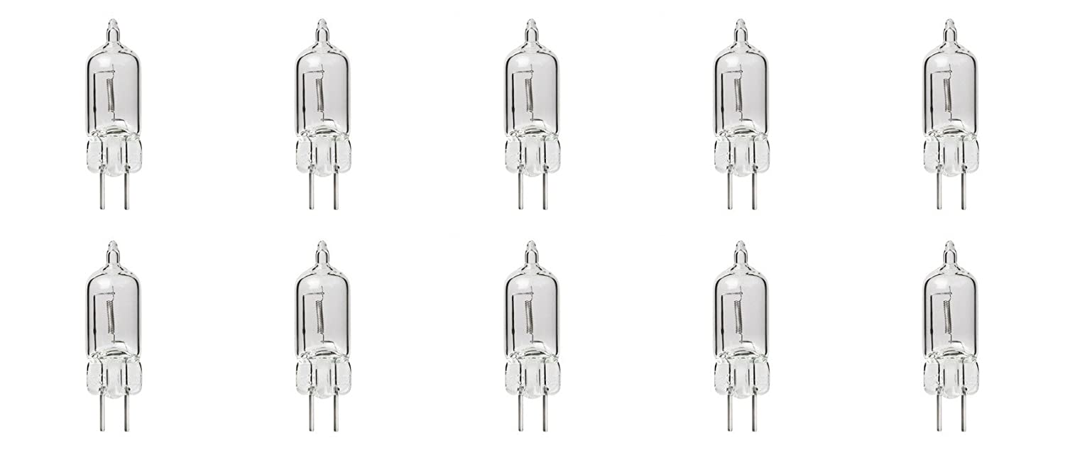 10 Pack Clear Lense Dimmable Q75/G5.3/CL/120V G5.3 JCD 75 Watt 120 Volt Halogen Light Bulb Electric Oil Warmer Bulbs Replacement Candle Warmer GE Oven Microwave Oil Aromatherapy Lamp Incense Diffuser Dimming Wax Burner Bulb g5.3 CL 75W