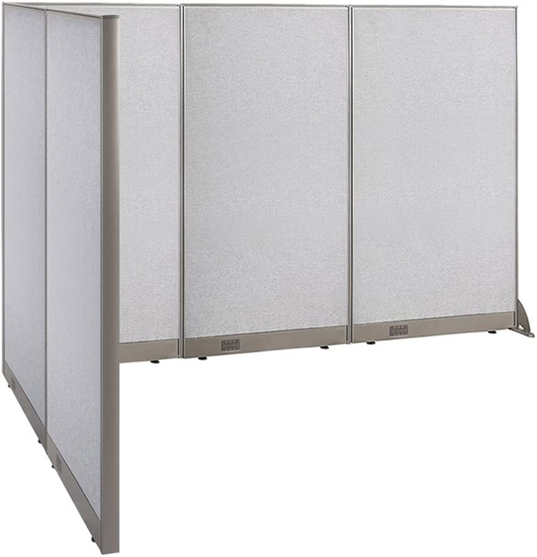 """GOF Freestanding L Shaped Office Partition, Large Fabric Room Divider Panel, 72""""D x 108""""W x 72""""H"""