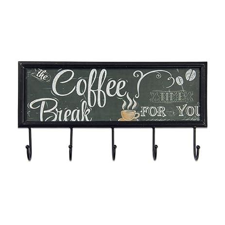 Amazon.com: Xing Cheng Wall Art Coffee Bread Metal Wall ...