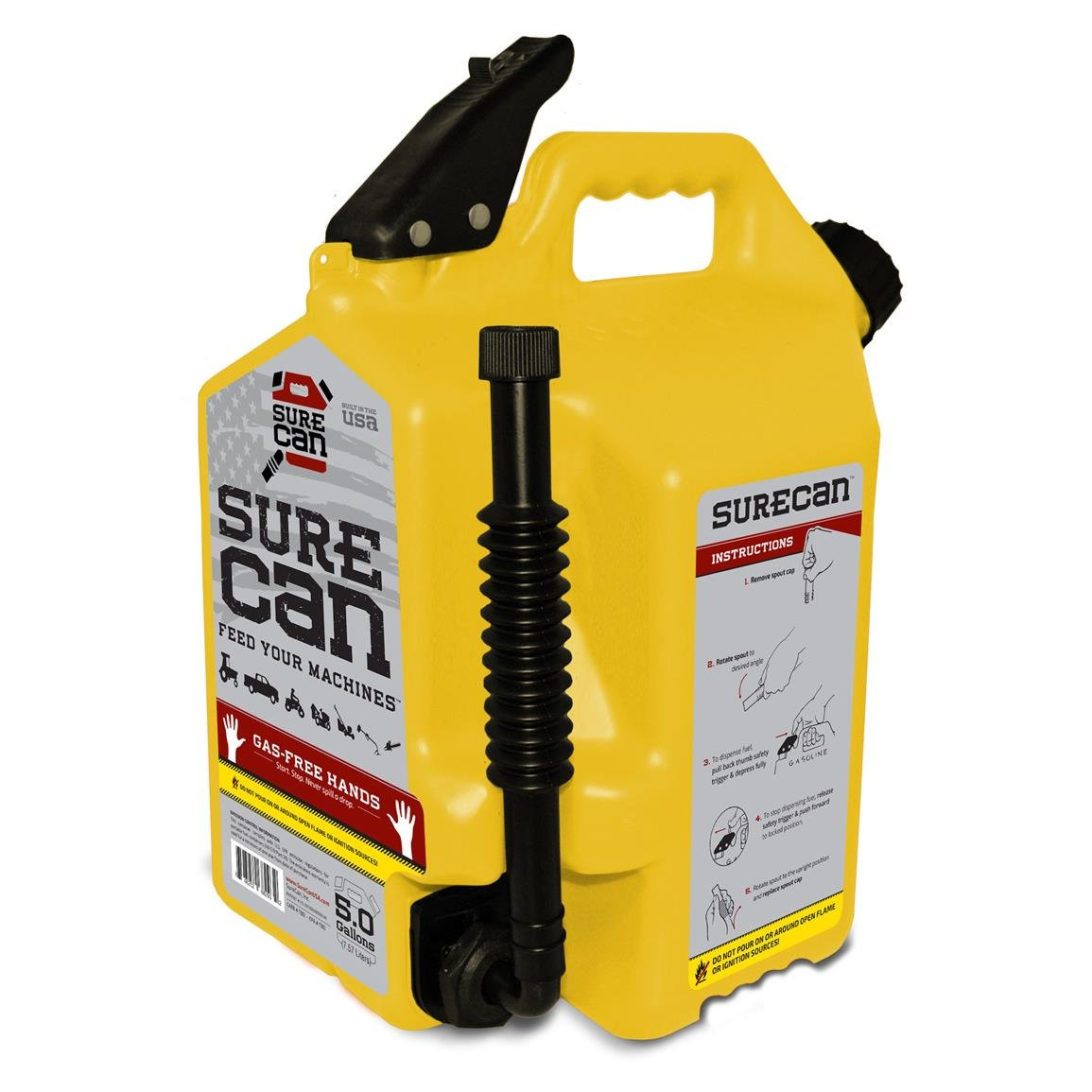 SureCan - Diesel Gas Can with Rotating Spout - 5.0 Gallons