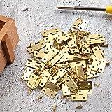 60 Pieces Mini Hinges Retro Door Hinges and 300