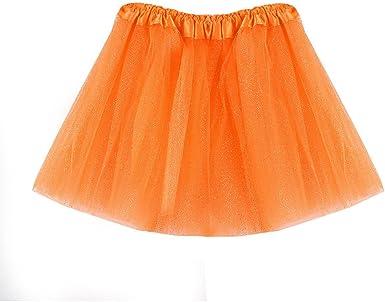JoJody - Mini vestido de tutú para niña de 3 a 8 años naranja 3- 8 ...
