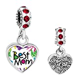 Amazon Price History for:LuckyJewelry Mothers Day Best Mom Photo Charms fit Charm Bracelet